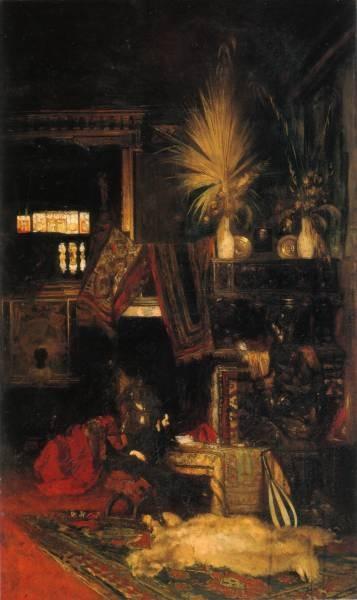 Eduard hans makart in seinem atelier